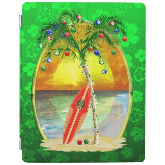 Christmas Beach Sunset iPad Cover