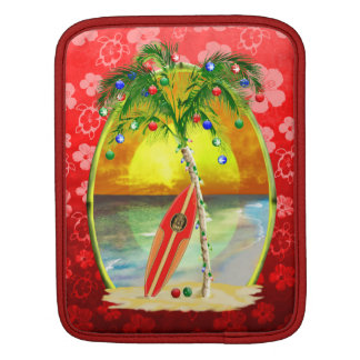 Christmas Beach Sunset iPad Sleeve