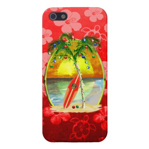 Christmas Beach Sunset iPhone 5 Covers