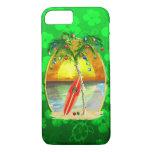Christmas Beach Sunset iPhone 7 Case