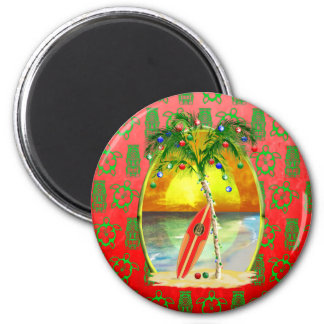 Christmas Beach Sunset Magnets