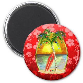 Christmas Beach Sunset Magnet