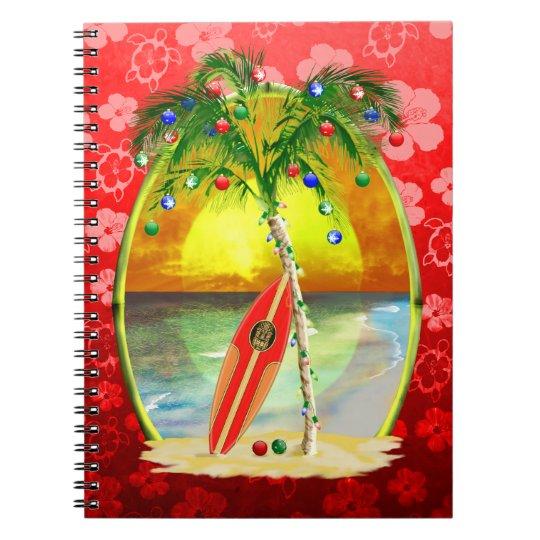 Christmas Beach Sunset Notebook