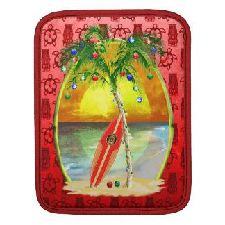 Christmas Beach Sunset Sleeve For iPads