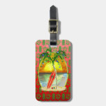 Christmas Beach Sunset Tag For Bags