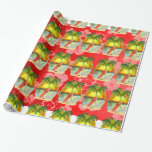 Christmas Beach Sunset Wrapping Paper at Zazzle