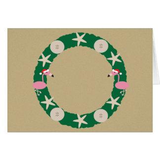 Christmas Beach Wreath Card