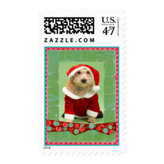 Christmas Beaded Whimsy Custom Photo Postage