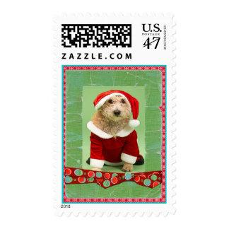 Christmas Beaded Whimsy Custom Photo Postage Stamp