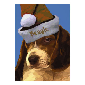 Christmas Beagle Greeting cards Personalized Invites