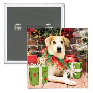 Christmas - Beagle - Laver Pinback Buttons