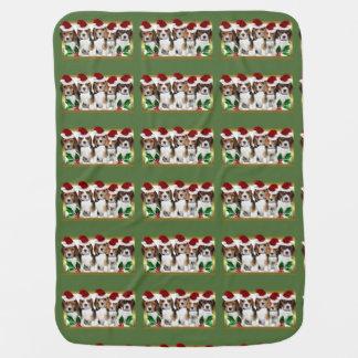 Christmas Beagle puppies Baby Blanket