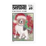 Christmas Beagle Stamp