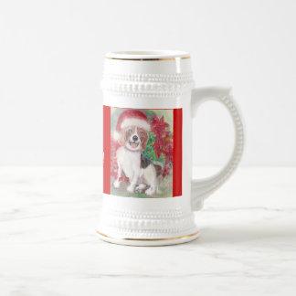 Christmas Beagle Stein