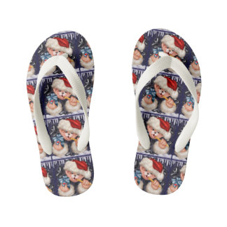 CHRISTMAS BEAR 2 CARTOON Flip Flop shoes kids Kid's Flip Flops