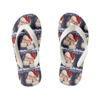 CHRISTMAS BEAR 3 CARTOON Flip Flop shoes kids Kid's Flip Flops