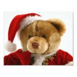 christmas bear 4.25x5.5 paper invitation card