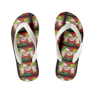 CHRISTMAS BEAR 5 CARTOON Flip Flop shoes kids Kid's Flip Flops