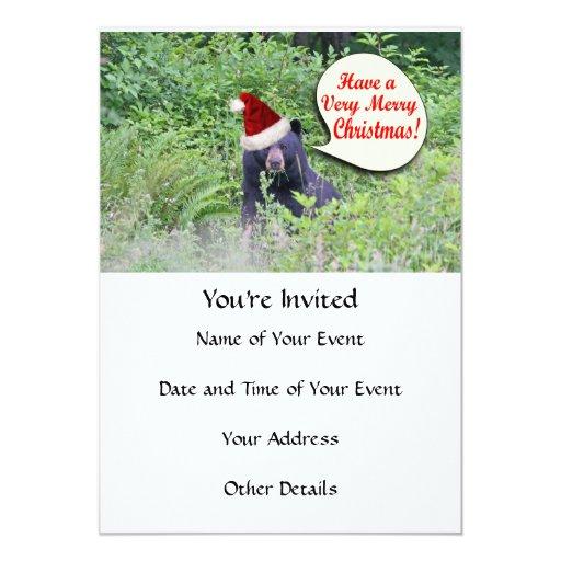 Christmas Bear 5x7 Paper Invitation Card