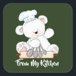 "Christmas bear baking kitchen sticker<br><div class=""desc"">design by Cheryl Seslar at www.digiwebstudio.com</div>"