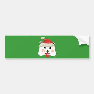 Christmas Bear Bumper Sticker