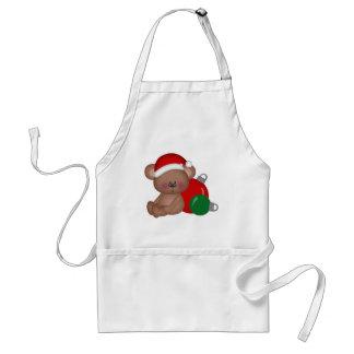 Christmas_Bear con los ornamentos Delantal