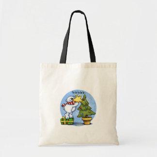 Christmas Bear full of Cheer Canvas Bag
