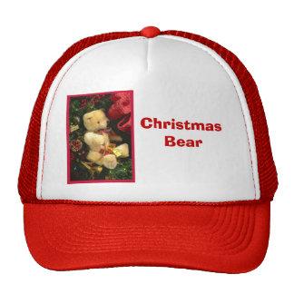 Christmas bear trucker hat