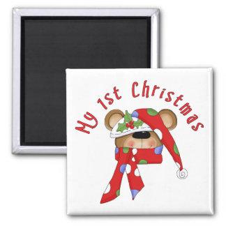 Christmas Bear Head 1st Christmas Magnet