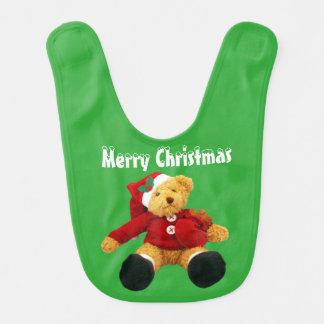 Christmas Bear Holiday baby bib