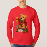 Christmas Bear Holiday Mens t-shirt