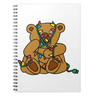 Christmas Bear Lights Notebook