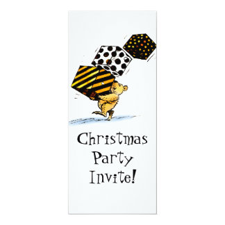Christmas Bear Party 4x9.25 Paper Invitation Card