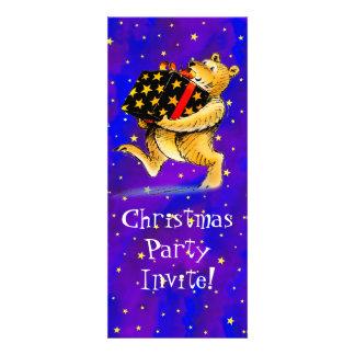 Christmas Bear Party Custom Invite