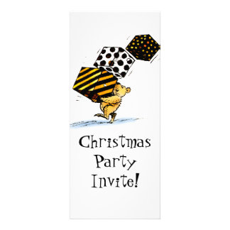 Christmas Bear Party Personalized Invitations