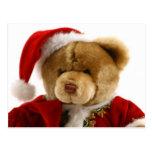 christmas bear post card