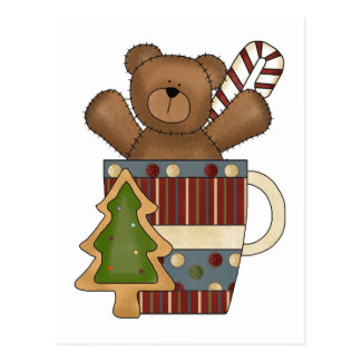 Christmas Bear Postcard