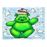 Christmas Bear Postcards