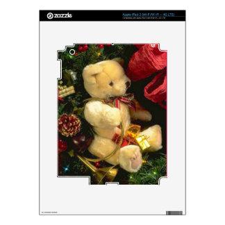 Christmas bear decal for iPad 3