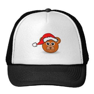 Christmas Bear Wearing Santa Hat