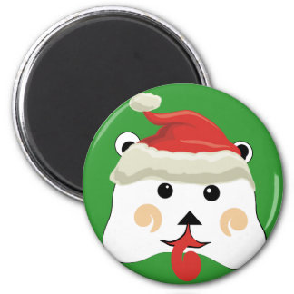 Christmas Bear with Any color Background Magnet