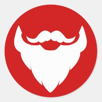 Christmas beard and mustache Santa's red sticker