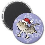Christmas Bearded Dragon / Rankins Dragon 2 Inch Round Magnet