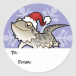 Christmas Bearded Dragon / Rankins Dragon Classic Round Sticker