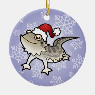 Christmas Bearded Dragon / Rankins Dragon Double-Sided Ceramic Round Christmas Ornament