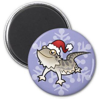 Christmas Bearded Dragon / Rankins Dragon Fridge Magnet