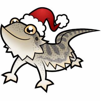 Christmas Bearded Dragon / Rankins Dragon Photo Sculpture Ornament
