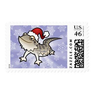 Christmas Bearded Dragon Rankins Dragon Postage Stamps