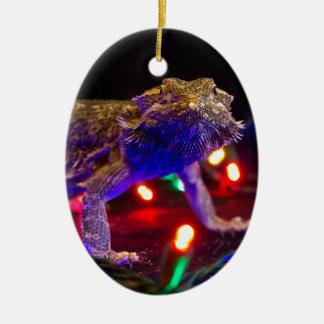 Christmas Beardie Ceramic Ornament