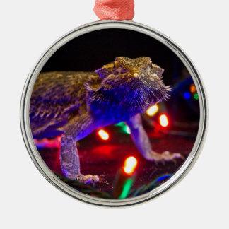 Christmas Beardie Metal Ornament